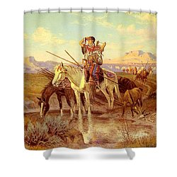 Seeking New Camping Ground Shower Curtain by Olaf Seltzer