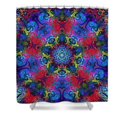 Seeking The Source Shower Curtain by Peggy Collins