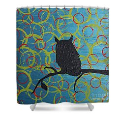 Shower Curtain featuring the painting Seer by Jacqueline McReynolds