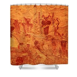 Sego Canyon Rock Art Shower Curtain