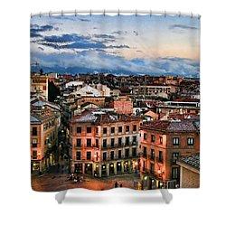 Segovia Nights In Spain By Diana Sainz Shower Curtain