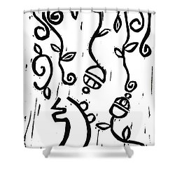 Sei Hei Ki With Flowers Shower Curtain by Lynn-Marie Gildersleeve