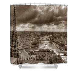 Seine From Notre Dame Shower Curtain