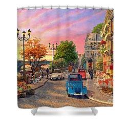 Seine Sunset Shower Curtain