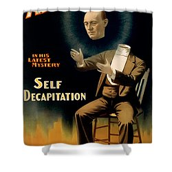 Self Decapitation Shower Curtain