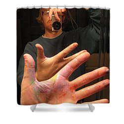Self Photo Portrait Shower Curtain