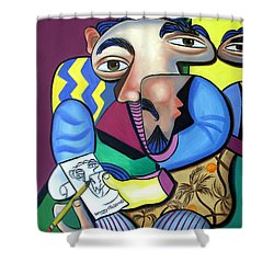 Self Portrait 101 Shower Curtain by Anthony Falbo