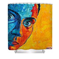 Self Portrait Shower Curtain by Ana Maria Edulescu
