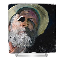 Shower Curtain featuring the painting Self Portrait  by Brian Boyle