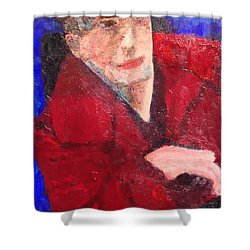 Shower Curtain featuring the painting Self-portrait by Donald J Ryker III