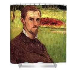 Self Portrait Shower Curtain by Gustave Caillebotte