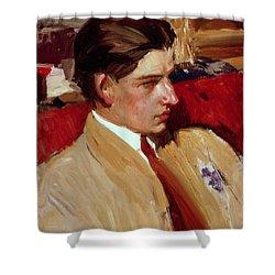 Self Portrait In Profile Shower Curtain by Joaquin Sorolla y Bastida