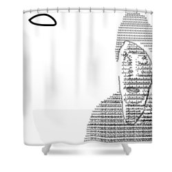 Self Portrait In Text Shower Curtain
