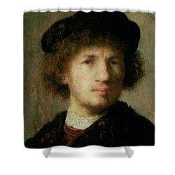 Self Portrait Shower Curtain by Rembrandt Harmenszoon van Rijn