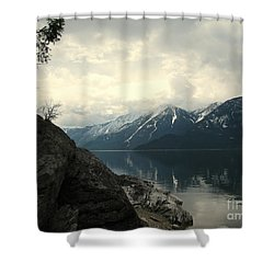 Selkirks In The Spring Shower Curtain