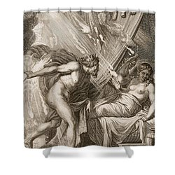 Semele Is Consumed By Jupiters Fire Shower Curtain by Bernard Picart