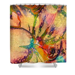 Springtime Floral Abstract Shower Curtain