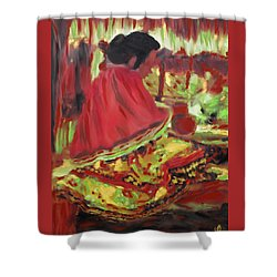 Seminole Indian At Work Shower Curtain