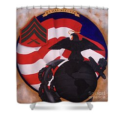 Semper Fidelis Shower Curtain by D L Gerring