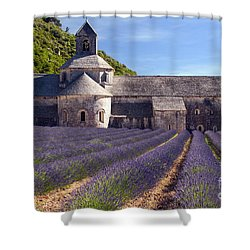 Senanque Abbey Shower Curtain by Bob Phillips