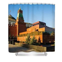 Senate Tower And Lenin's Mausoleum Shower Curtain by Alexander Senin