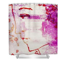 Sending Mary Home Shower Curtain by Candee Lucas