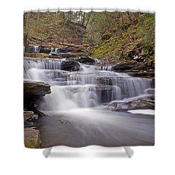 Seneca Falls In Spring Shower Curtain by Shelly Gunderson