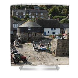 Sennen Cove Shower Curtain by Linsey Williams