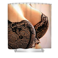 Sensual Lace Shower Curtain