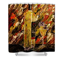 Sensual Nights Named Shower Curtain by Mark Moore