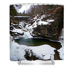 Sentinel Pine Bridge In Winter Shower Curtain
