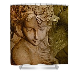 Sepia Angel Shower Curtain