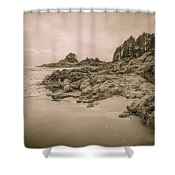 Cox Bay Sepia Shower Curtain