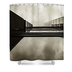 Sepia Skyscraper Series - Infinity Shower Curtain