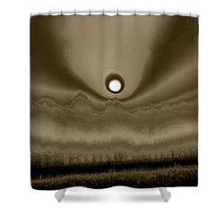 Sepia Sunrise Shower Curtain