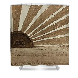 Sepia Sunset Original Painting Shower Curtain