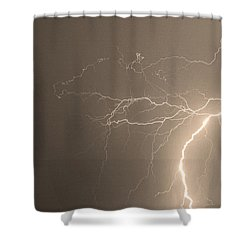 Sepia Tropical Thunderstorm Night  Shower Curtain by James BO  Insogna