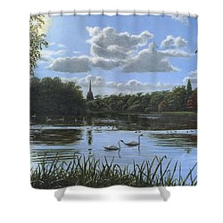 September Afternoon In Clumber Park Shower Curtain by Richard Harpum