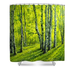 September In The Woods Shower Curtain