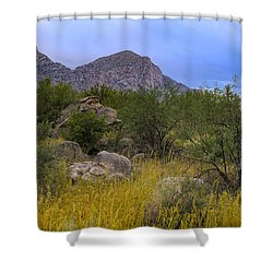 Shower Curtain featuring the photograph September Oasis No.1 by Mark Myhaver