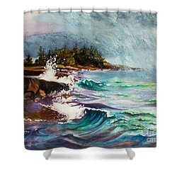 September Storm Lake Superior Shower Curtain