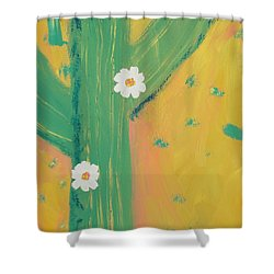 Shower Curtain featuring the painting Sequoia by PainterArtist FINs daughter