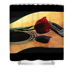 Serenade Shower Curtain by Angela Davies