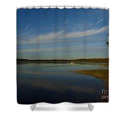 Serene Dive Shower Curtain