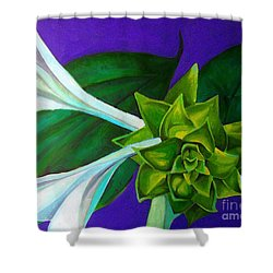 Serene Green One Shower Curtain