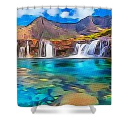 Serene Green Waters Shower Curtain by Catherine Lott