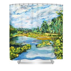 Serene Pond Shower Curtain