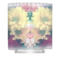 Shower Curtain featuring the photograph Serene Zinnias by Luther Fine Art
