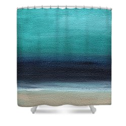 Serenity- Abstract Landscape Shower Curtain