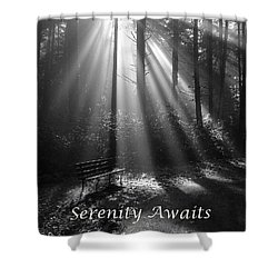 Serenity Awaits Shower Curtain by Brian Chase